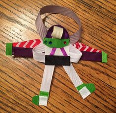 Buzz Lightyear Ribbon Sculpture pin clip or ornament by Reneespixiedust on Etsy Ribbon Sculpture, Buzz Lightyear, Disney Inspired, Hair Bows, Ornaments, Unique Jewelry, Handmade Gifts, Etsy, Ribbon Hair Ties