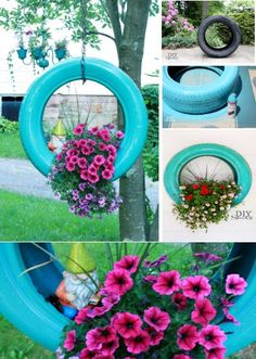 DIY Tire Planter Is Perfect For Your Garden | The WHOot