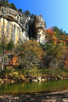 Autumn, downstream from Roark's Bluff, Buffalo National River