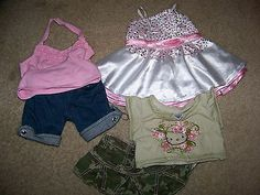 Build a Bear Clothes- 3 Outfits, Dress, Hello Kitty Skirt Set, & Top and Jeans
