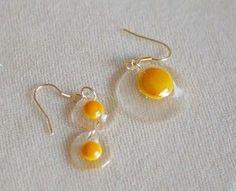 Interesting resin earrings!