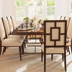 classic dining.... love these chair backs !