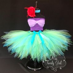 Ariel Princess Little Mermaid Tutu Costume by MissTwirlyGirl, $55.00