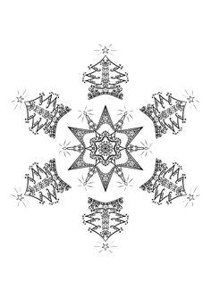 #mandala #zentangle #arttherapie #coloriagedulte #coloriagezen #coloriage #noel #christmas Zentangle, Mandala, Creations, Art Therapy, Noel, Drawing Drawing, Zen Tangles, Zentangles, Mandalas