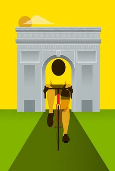 Arc de Triomphe signals the closing chapter for another edition of this year's Tour de France. Poster is designed by Peter and Eleanor Dalkner and is available from Peter's website.