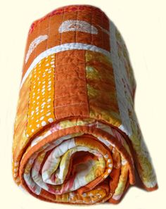Modern Quilt  The Color Orange by clubaloha on Etsy