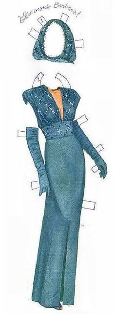 Barbara Stanwyck paper dolls