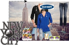 """""""old navy tee hoodie"""" by kitty-wasch on Polyvore"""