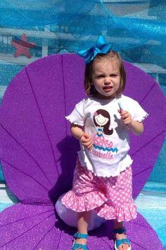 Under the Sea Birthday Party | Little Mermaid Birthday Party | Girl's Birthday Ideas | Oyster Portrait Station | Mermaid Applique Shirt