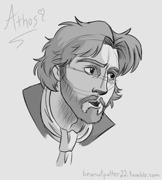 Quick warm up sketch of my favourite Musketeer! ;) beanutputter22.tumblr.com