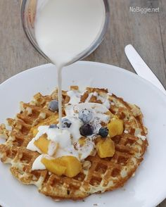 Are you looking for a delicious breakfast for this holiday season? Try our Brown Sugar Peaches and Cream Waffles! It's sure to be a crowd-pleaser!  Find the recipe here: https://www.nobiggie.net/brown-sugar-peaches-and-cream-waffles/  #nobiggierecipes  #waffles #thanksgivingrecipes #thanksgiving #breakfastideas #breakfast  Yummery - best recipes. Follow Us! #thanksgivingrecipes