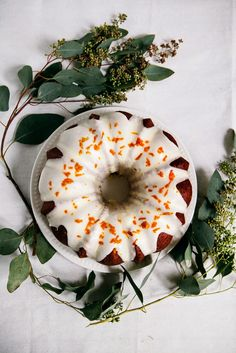 Tangerine Sour Cream Pound Cake