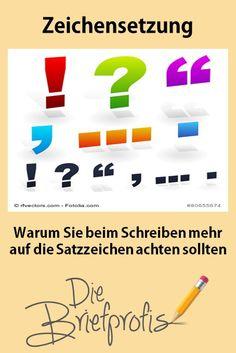 Warum Sie beim Schreiben mehr auf die Satzzeichen achten sollten Bar Chart, Blog, Writing, Punctuation, Simple Sentences, Communication, Couple, Deutsch, Bar Graphs