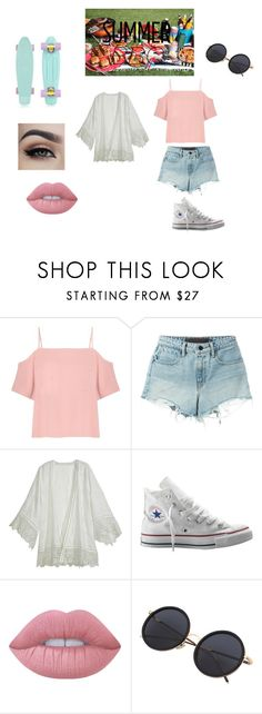 """Summer BBQ"" by coolpineapple-765 ❤ liked on Polyvore featuring T By Alexander Wang, Calypso St. Barth, Converse and Lime Crime"