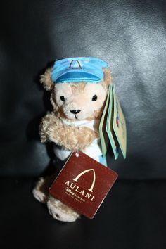 NEW Rare Disney Aulani Duffy Bear Plush Magnet Hawaii Exclusive Aloha Bear