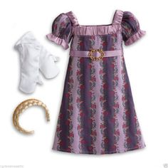New American Girl Caroline's Holiday Gown NIB NRFB Gloves Shoes Headband No Doll