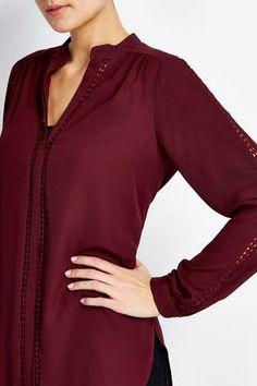 Berry Crochet Insert Shirt, £26.40