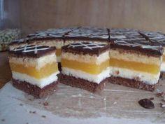 Domino rezy pomarančové, recepty, Zákusky   Tortyodmamy.sk High Sugar, Cake Bars, Russian Recipes, Tiramisu, Cake Recipes, Cheesecake, Food And Drink, Pudding, Favorite Recipes