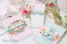 Scrapiniec inspirations on blogspot: Floral cards by Tanya SonataJoy