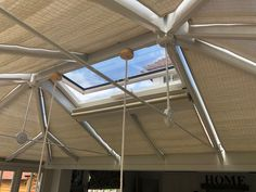 Our Pinoleum Woodweave roof blinds will bring some warmth and comfort into your house but with the added protection of keeping the heat and glare out! These are perfect for timber framed conservatories.