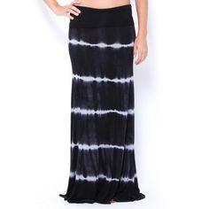 Stripe Tie-Dye Maxi Skirt