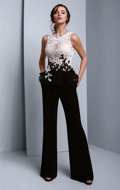 71a4d7a08183 BC1339 Lace Scalloped Jewel Crepe Jumpsuit by Beside Couture by Gemy at  CoutureCandy.com Jumpsuit