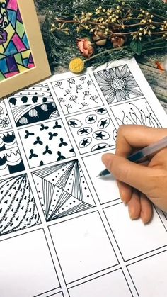 Doodle Art Drawing, Zentangle Drawings, Mandala Drawing, Zentangles, Doodle Art Designs, Doodle Patterns, Zentangle Patterns, Arte Mehndi, Dibujos Zentangle Art