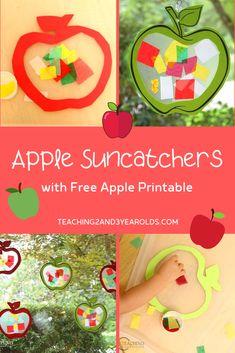 Preschool Apple Theme, Preschool Arts And Crafts, Apple Activities, Fall Preschool, Apple Crafts For Preschoolers, Autumn Activities, Toddler Themes, Toddler Art, Toddler Crafts