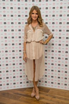 Pin for Later: All the Made in Chelsea Girls' Finest Fashion Moments  Millie took part in a charity walk for The Prince's Trust in August 2012, wearing a sheer beige shirtdress.