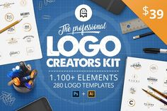 The Professional Logo Creators Kit by Graphic Ghost on @creativemarket