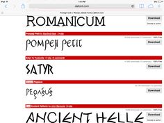 Greek/Roman Look Fonts