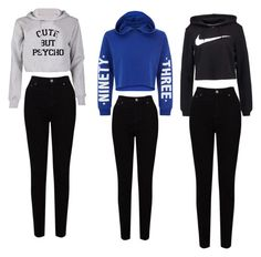 """""""Emma t. Emma d. And Aayla"""" by aaylabb8 on Polyvore featuring NIKE, New Look and EAST"""