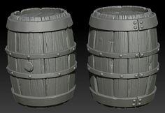 Barrels on Zbrush by ganooon on DeviantArt