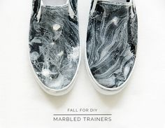 Fall For DIY Marbled Trainers