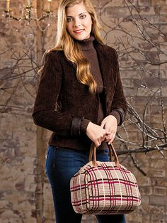 Crochet - Gifts - Tunisian Meets Tartan Bag