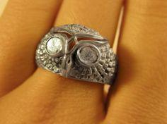 Owl head ring