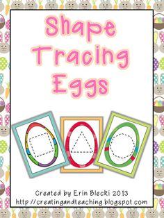 creating & teaching: Shape Tracing Eggs- {FREE}