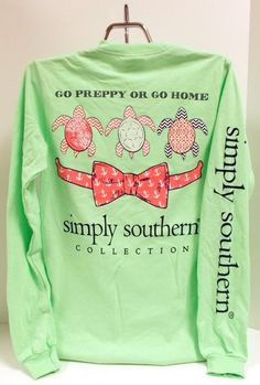 Simply Southern Tees Go Preppy or Go Home Long Sleeve Pocket T-Shirt
