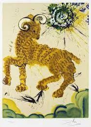 """""""Litografias de Salvador Dalí que ilustram os 12 signos do zodíaco."""