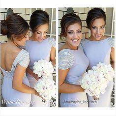 Dora Cap Sleeve Dress #whiterunway #realbridesmaids (i like the style-nj)