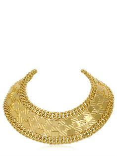 BALMAIN - GOLD PLATED COLLAR NECKLACE - LUISAVIAROMA - LUXURY SHOPPING WORLDWIDE SHIPPING - FLORENCE