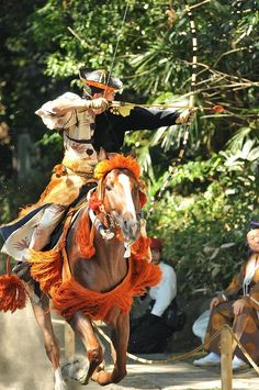 The Kamakura Yabusame festival is probably Japan's most impressive demonstration… Japanese Culture, Japanese Art, Traditional Japanese, Kamakura Period, Mounted Archery, Japanese Festival, Work Horses, Samurai Warrior, Kendo