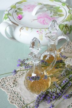 Homemade Lavender syrup