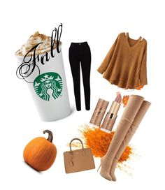 """""""Fall"""" by yulee123 on Polyvore featuring WithChic, EAST, Balmain, tarte and Prada"""