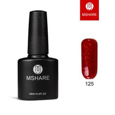 MSHARE high-end 10 ml of uv gel nail polish nail art gold silver glitter lasting Germany materials + free shipping