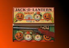 Vintage Halloween Toy ~ Jack-O-Lantern Target Shooting Game by Parker Brothers