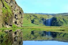 The Skógafoss waterfall in southern Iceland