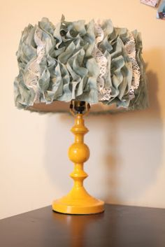 DIY Ruffle Lamp...so cute for a little girls room