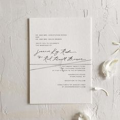 "523 Likes, 7 Comments - Illustrator/Calligrapher (@estherclarkco) on Instagram: ""Modern and minimal invitations for a fall bride! With their mixed alignment and twine detail, these…"""