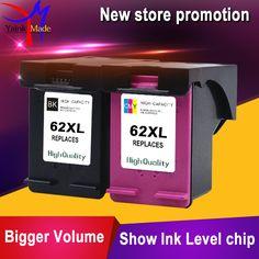 2PK Remanufactured für HP 62XL tintenpatrone Für HP62 tintenpatrone für HP ENVY 5640, 5642, 5643, 5644, 5646, 5660, 764